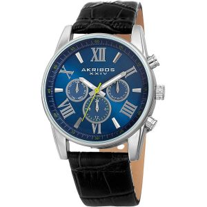 Akribos XXIV Men's Swiss Quartz Multifunction Dual-Zone Watch