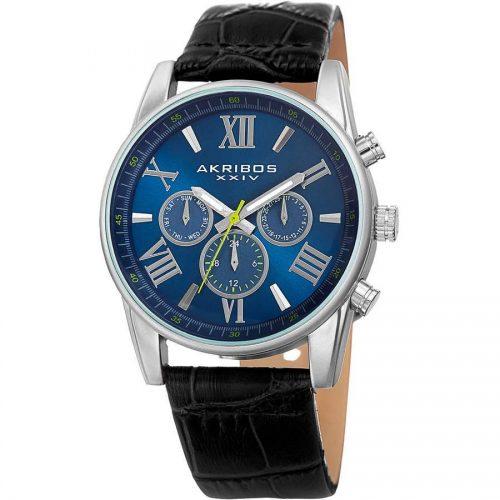 Akribos XXIV Men's Swiss Quartz Multifunction Dual-Zone Watch