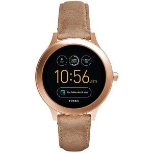Fossil Women's Q Venture Gen 3 Leather Smart Watch – FTW6005