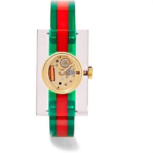 Gucci – Plexiglas® And Gold-tone Watch – Green