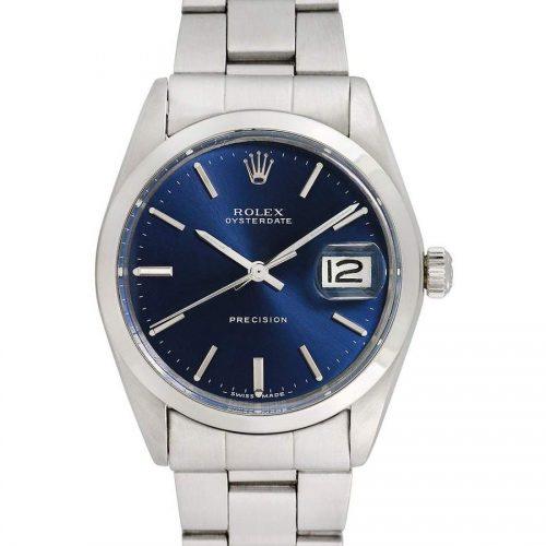 Rolex Women's Vintage Rolex Unisex Stainless Steel Oysterdate Watch, 34mm