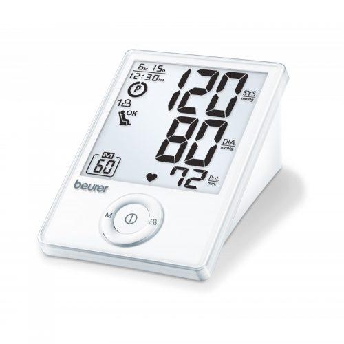 Beurer Žastinis kraujospūdžio matuoklis BM70. Visiškai automatizuotas kraujo spaudimo matavimo aparatas, skirtas kraujo spaudimui ir pulsui ant žasto matuoti. Kraujospūdžio matuoklis BM70