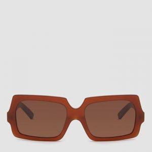 Acne Studios George Large Sunglasses in Chocolate Brown