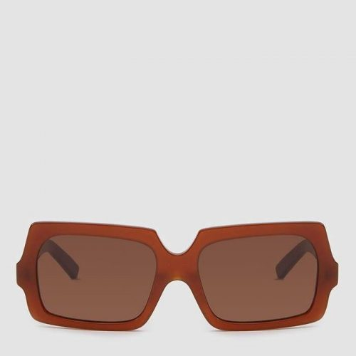 Acne Studios George Large Sunglasses in Chocolate Brown