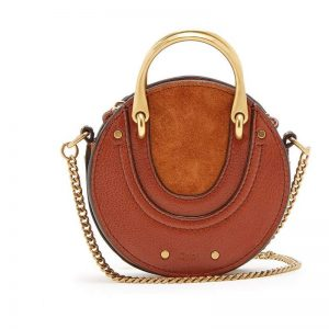 CHLOÉ Pixie mini leather and suede cross-body bag rankine