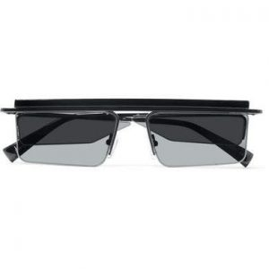 Le Specs - Adam Selman The Flex Square-frame Acetate And Gunmetal-tone Sunglasses - Black