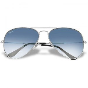 Ray Ban Aviator - Silvertone Metal Sunglasses