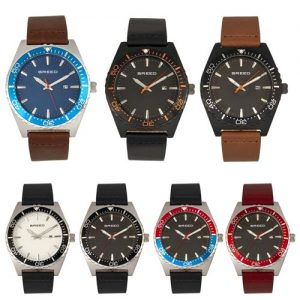 Breed Ranger Leather-Band Watch