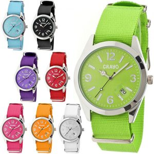 Crayo Sunrise Nylon-Band Unisex Watch