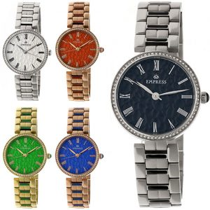 Empress Catherine Automatic Hammered Dial Bracelet Watch