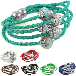 Swarovski Elements Crsytal And Murano Glass Bracelet