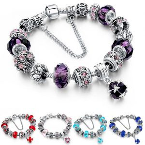 Swarovski Elements Crystal Charm Bracelet