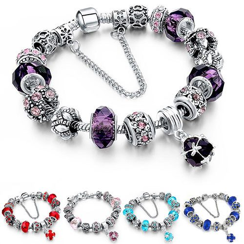Swarovski Elements Crystal Charm Bracelet